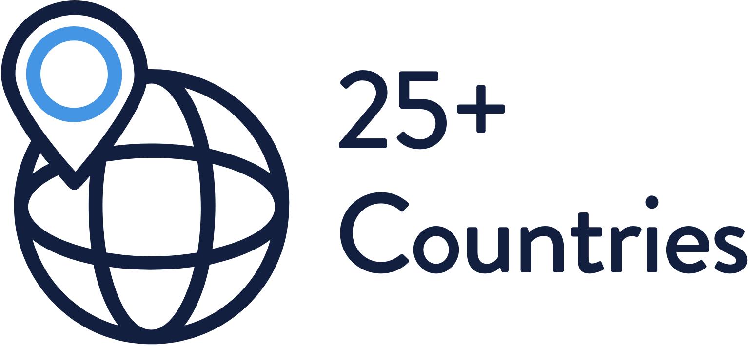 25 plus countries