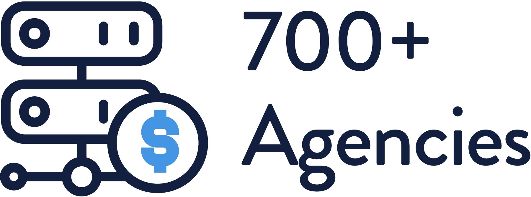 700 plus Agencies
